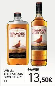 Oferta de Whisky THE FAMOUS GROUSE 40º por 13,5€