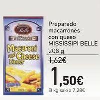 Oferta de Preparado macarrones con queso MISSISSIPI BELLE por 1,5€