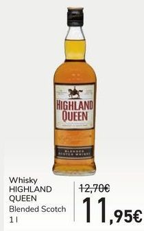 Oferta de Whisky HIGHLAND QUEEN por 11,95€