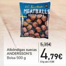 Oferta de Albóndigas suecas ANDERSSON'S por 4,79€