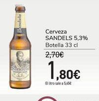 Oferta de Cerveza SANDELS 5,3% por 1,8€