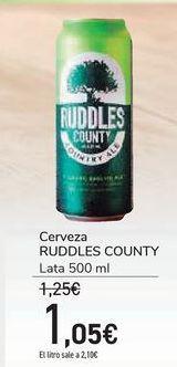 Oferta de Cerveza RUDDLES COUNTY por 1,05€
