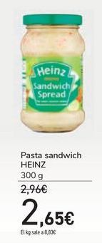 Oferta de Pasta sandwich HEINZ por 2,65€