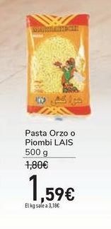 Oferta de Pasta Orzo o Piombi LAIS por 1,59€