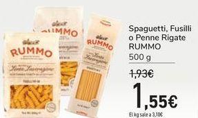 Oferta de Spaguetti, Fusilli o Penne Rigate RUMMO por 1,55€