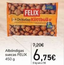 Oferta de Albóndigas suecas FELIX por 6,75€