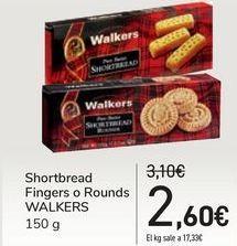 Oferta de Shortbread Fingers o Rounds WALKERS por 2,6€