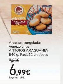 Oferta de Arepitas congeladas Venezolanas ANTOJOS ARAGUANEY por 6,99€