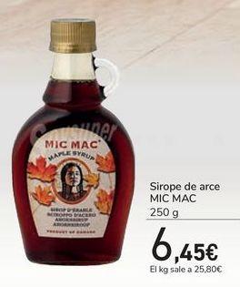 Oferta de Sirope de arce MIC MAC por 6,45€
