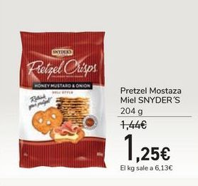 Oferta de Pretzel Mostaza Miel SNYDER'S por 1,25€