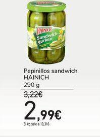 Oferta de Pepinillos sandwich HAINICH por 2,99€