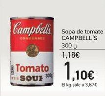 Oferta de Sopa de tomate CAMPBELL'S por 1,1€