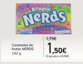 Oferta de Caramelos de frutas NERDS por 1,5€