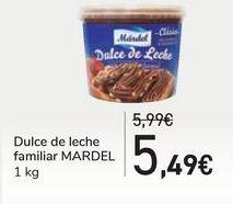 Oferta de Dulce de leche familiar MARDEL por 5,49€
