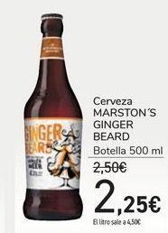 Oferta de Cerveza MARSTON'S GINGER BEARD  por 2,25€
