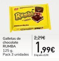 Oferta de Galletas de chocolate RUMBA por 1,99€
