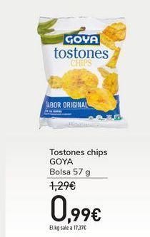 Oferta de Tostones chips GOYA por 0,99€