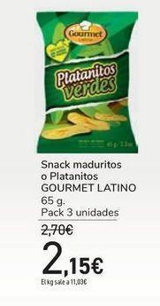 Oferta de Snack maduritos o Platanitos GOURMET LATINO por 2,15€