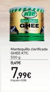 Oferta de Mantequilla clarificada GHEE KTC por 7,99€