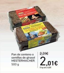 Oferta de Pan de centeno o semillas de girasol MESTERMACHER por 2,01€