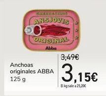 Oferta de Anchoas originales ABBA por 3,15€