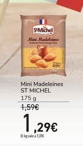 Oferta de Mini Madeleines ST MICHEL por 1,29€