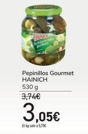 Oferta de Pepinillos Gourmet HAINICH por 3,05€