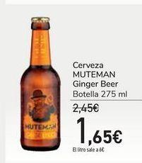 Oferta de Cerveza MUTEMAN Ginger Beer por 1,65€