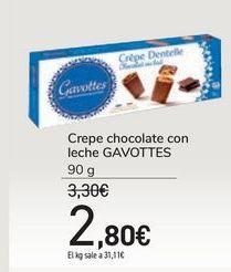 Oferta de Crepe chocolate con leche GAVOTTES por 2,8€