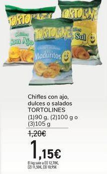 Oferta de Chifles con ajo, dulces o salados TORTOLINES por 1,15€