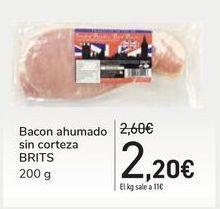 Oferta de Bacón ahumado sin corteza BRITS por 2,2€