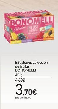 Oferta de Infusiones colección de frutas BONOMELLI por 3,7€