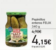 Oferta de Pepinillos enteros FELIX por 4,15€