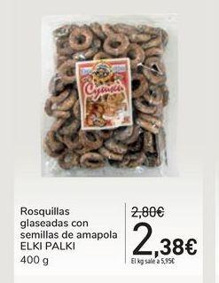 Oferta de Rosquillas glaseadas con semillas de amapola ELKI PALKI por 2,38€