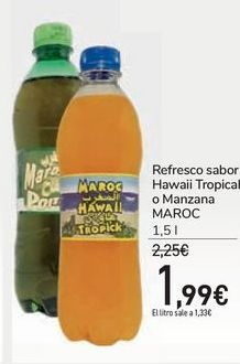 Oferta de Refresco sabor Hawaii Tropical o Manzana MAROC por 1,99€