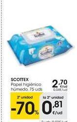 Oferta de Papel higiénico Scottex por 2,7€