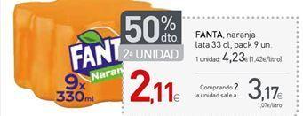 Oferta de Refresco de naranja fanta por 4,23€