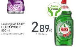 Oferta de Detergente lavavajillas Fairy por 2,89€