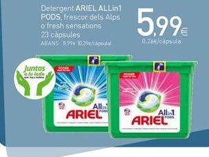 Oferta de Detergente en cápsulas Ariel por 5,99€