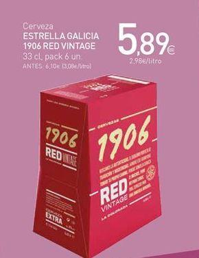 Oferta de Cerveza Estrella Galicia por 5,89€