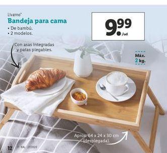Oferta de Bandeja para cama Livarno por 9,99€