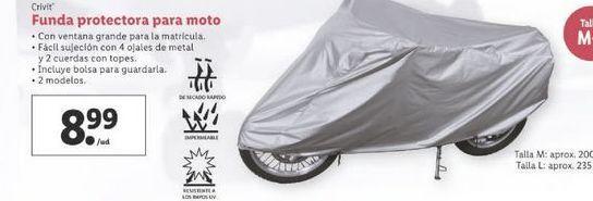 Oferta de Funda protectora para moto Crivit por 8,99€