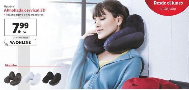 Oferta de Almohada cervical 3D Meradiso por 7,99€