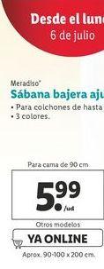 Oferta de Sábana bajera ajustado en punta Meradiso por 5,99€