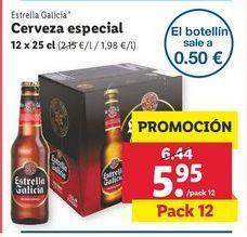 Oferta de Cerveza especial Estrella Galicia por 5,95€