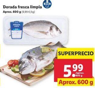 Oferta de Dorada fresca limpia por 5,99€