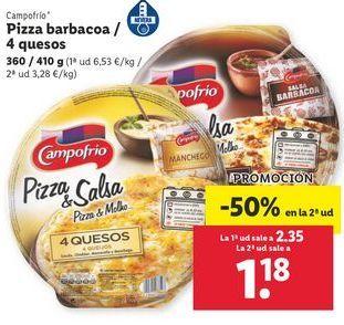 Oferta de Pizza barbacoa Campofrío/ 4  queso por 2,35€