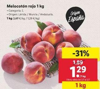 Oferta de Melocotón rojo por 1,29€