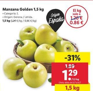 Oferta de Manzana golden por 1,29€