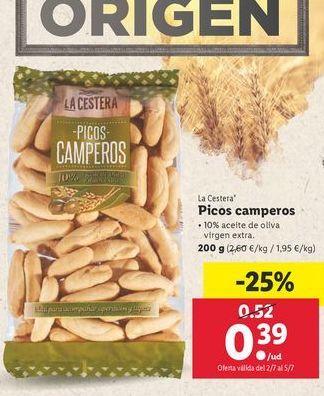Oferta de Picos camperos La Cestera por 0,39€